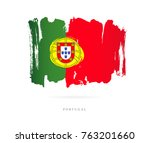flag of portugal. vector... | Shutterstock .eps vector #763201660