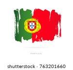 flag of portugal. vector... | Shutterstock .eps vector #763201660