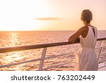 cruise ship luxury travel... | Shutterstock . vector #763202449