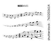 music wave set. vector music... | Shutterstock .eps vector #763202614