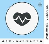 heart medical icon   Shutterstock .eps vector #763203133
