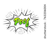 comic collection word poof ... | Shutterstock .eps vector #763206004