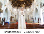 statues of holy women in blur... | Shutterstock . vector #763206700