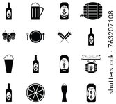 beer icon set   Shutterstock .eps vector #763207108