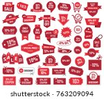 special offer 10   sale banners ... | Shutterstock .eps vector #763209094