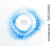 abstract circular halftone... | Shutterstock .eps vector #763210063