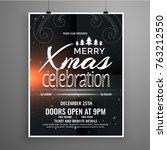 dark christmas celebration... | Shutterstock .eps vector #763212550