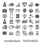 finance icons set | Shutterstock .eps vector #763214023