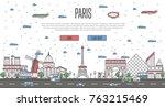 paris skyline with national...   Shutterstock .eps vector #763215469