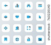 interface colorful icons set...