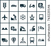 transportation icons set with... | Shutterstock .eps vector #763220146