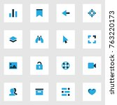 user colorful icons set with...