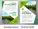 business brochure. flyer design.... | Shutterstock .eps vector #763221520