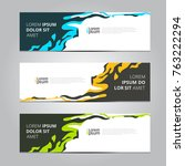 vector abstract design banner... | Shutterstock .eps vector #763222294