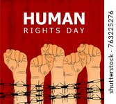 human rights day  human rights...   Shutterstock .eps vector #763225276