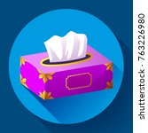vector tissue box flat icon.... | Shutterstock .eps vector #763226980