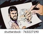 stock illustration. people in... | Shutterstock .eps vector #763227190