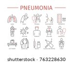 pneumonia. symptoms  treatment. ... | Shutterstock .eps vector #763228630