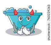 devil bathtub character cartoon ...   Shutterstock .eps vector #763229263