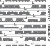 illustrated vector pattern on a ... | Shutterstock .eps vector #763236808