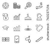 thin line icon set   target... | Shutterstock .eps vector #763237156