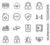 thin line icon set   server ...   Shutterstock .eps vector #763240348