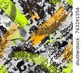 grunge  geometric pattern for... | Shutterstock .eps vector #763241356
