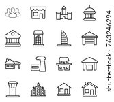 thin line icon set   group ... | Shutterstock .eps vector #763246294