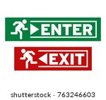 enter and exit symbol | Shutterstock .eps vector #763246603