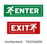enter and exit symbol | Shutterstock .eps vector #763246606