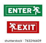 enter and exit symbol | Shutterstock .eps vector #763246609