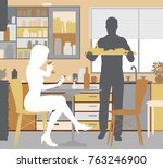 editable vector illustration of ... | Shutterstock .eps vector #763246900