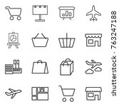 thin line icon set   cart ... | Shutterstock .eps vector #763247188