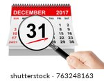 new year eve concept. 31... | Shutterstock . vector #763248163