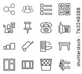 thin line icon set   share ... | Shutterstock .eps vector #763248388