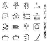 thin line icon set   pointer ... | Shutterstock .eps vector #763248448