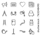 thin line icon set  ...   Shutterstock .eps vector #763248490