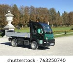 Small photo of MUNICH, BAVARIA, GERMANY - OCT, 13, 2017 - Palace of Nymphenburg garden truck