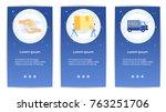 e shopping set of mobile apps... | Shutterstock .eps vector #763251706