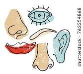 art illustration for a poster... | Shutterstock .eps vector #763254868