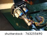 the servos are components of... | Shutterstock . vector #763255690