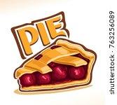 vector illustration of cherry... | Shutterstock .eps vector #763256089