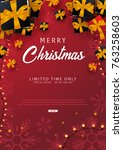 merry christmas and happy new...   Shutterstock .eps vector #763258603