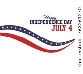 united states independence day...   Shutterstock .eps vector #763261270