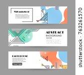 vector design banner templates   Shutterstock .eps vector #763261570