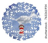 Small photo of Reduction of CO2 presence in the atmosphere - jigsaw puzzle concept image