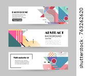 vector design banner templates   Shutterstock .eps vector #763262620