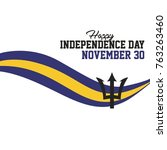 barbados independence day...   Shutterstock .eps vector #763263460