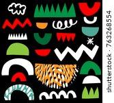 design for poster  card ... | Shutterstock .eps vector #763268554