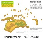 isometric 3d australia and... | Shutterstock .eps vector #763276930